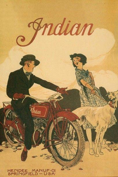 Publicidade a marca de motas Indian