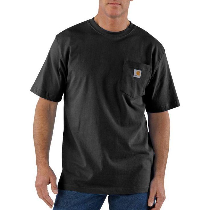 Carhartt Men's Workwear T-Shirt, Size: Medium, Black