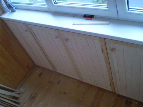 узкий шкаф балкон
