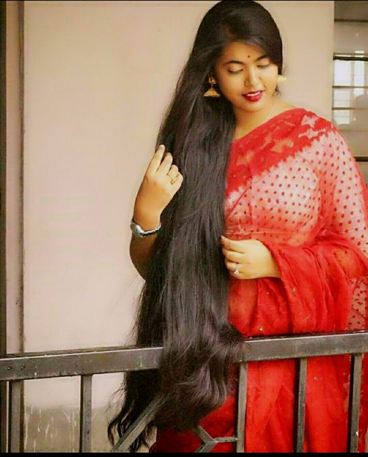 543 best Long  hair  with Saree  images on Pinterest Long