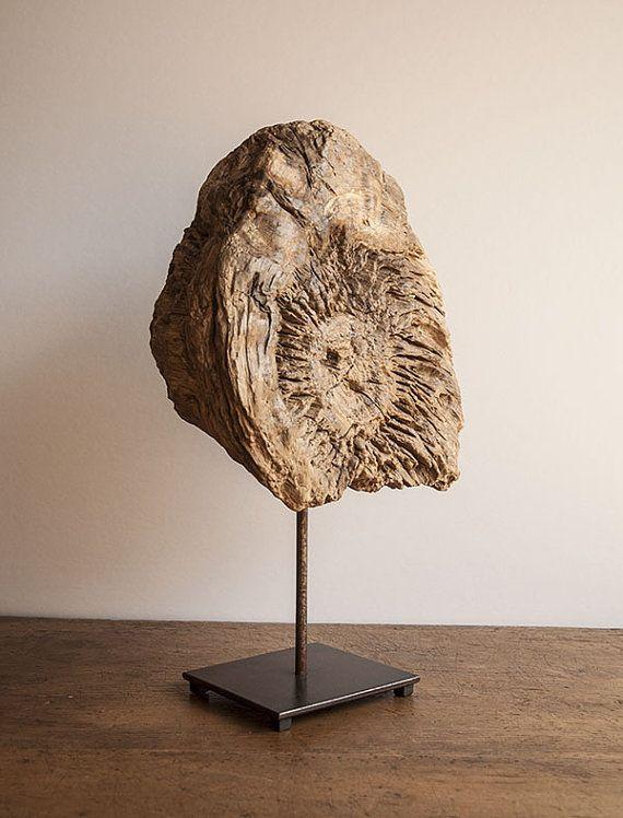 Scultura in legno recuperato di fiume di TheCabinEssentials, €350.00