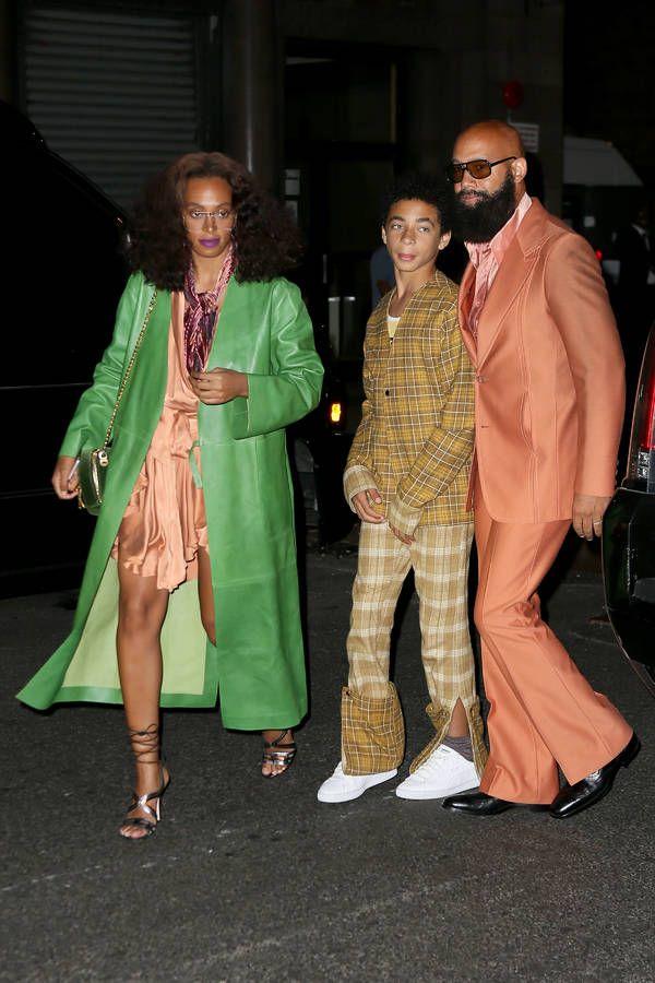 Solange Knowles, son fils Daniel Julez Smith Jr. et son époux Alan Ferguson