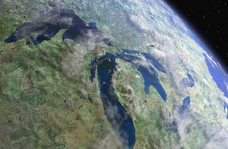 Michigan Seen From Outer Space Michigan Pinterest Ontario Sweet And This Is Awesome