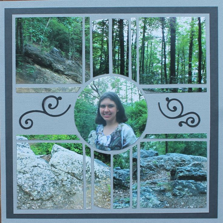 Photo Collage created by Deborah, Lea France Designer using Compass Stencil. #Photos #Collage #Designs #Stencils #PhotoCollage #Art #Scrapbook #Crafts #Compass #Swirls
