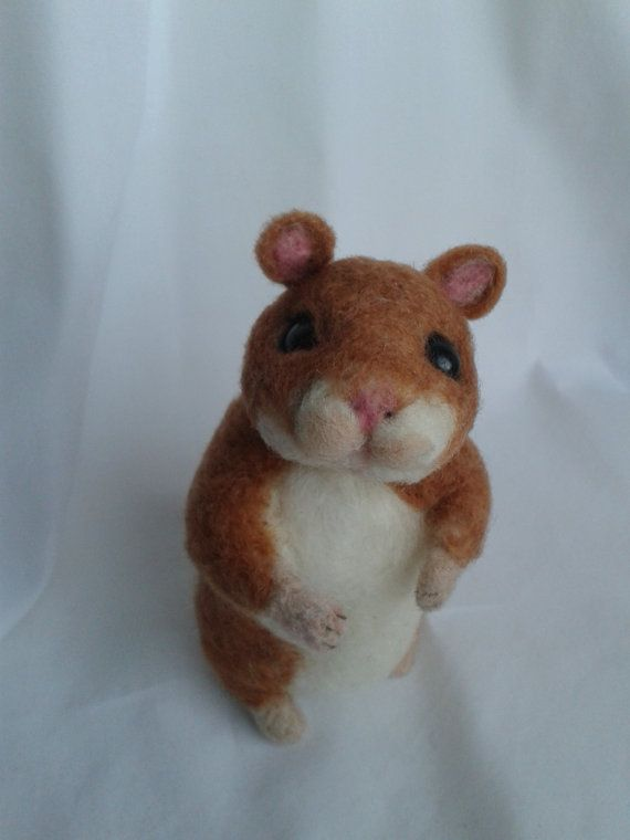 Needle Felted Animal Needle Felted Hamster OOAK Handmade Ready To Ship Gift Idea Hamster pet Mothers Day Gift