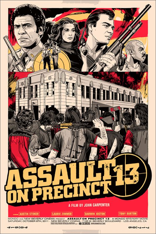Assault on precinct 13 variant silkscreen movie poster click image for more detail artist tyler stout venue new beverly cinema location los angeles