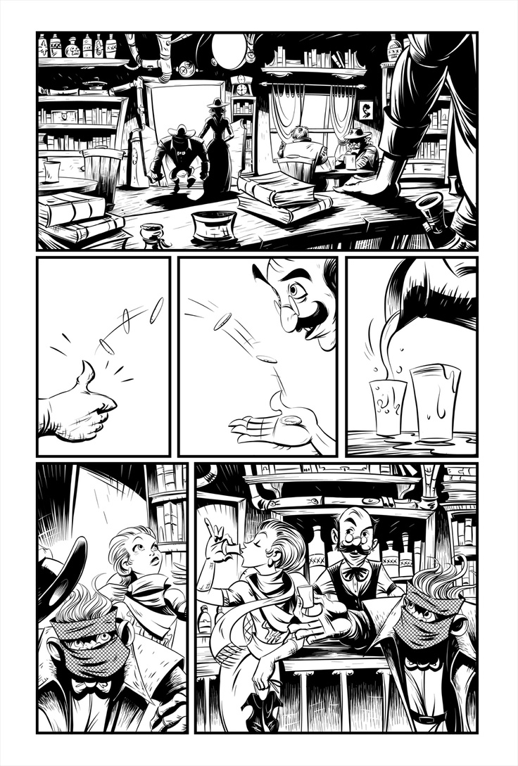 Page 3 inks from Modo: Ember's End  http://igg.me/at/modo/x/2317118
