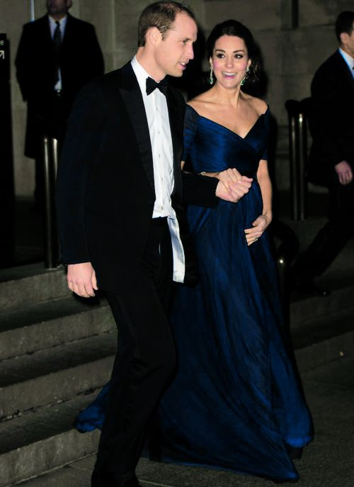 The Duke and Duchess of Cambridge in New York City. December 2014.