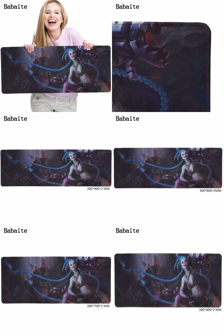 [Visit to Buy] Babaite Gaming Mouse pad Jinx Quality full-color printing Classic Skin Mouse Pad Rubber Soft Anti-Slip Laptop keyboard Mat XL #Advertisement