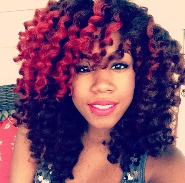 Crochet Hair Rods : FLEXI ROD CURLS: Twist Outs, Red, Hair Styles, Black Hair, Colors ...