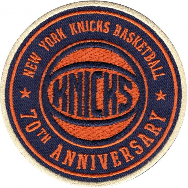 2017 Official NBA New York Knicks 70th Anniversary Warm Up Jersey Patch