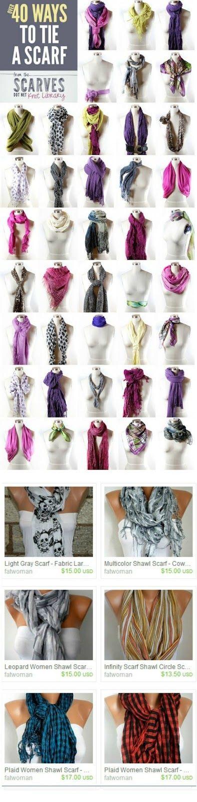 Scarf , Scarf ... | Chic Fashion Pins : The Cutest Pins Around!!!