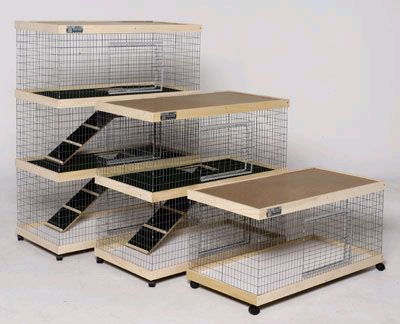 Luxury Indoor Rabbit Cages | Luxury Condos for Rabbits: Bunny Adobe Condos by Leith Petwerks ...
