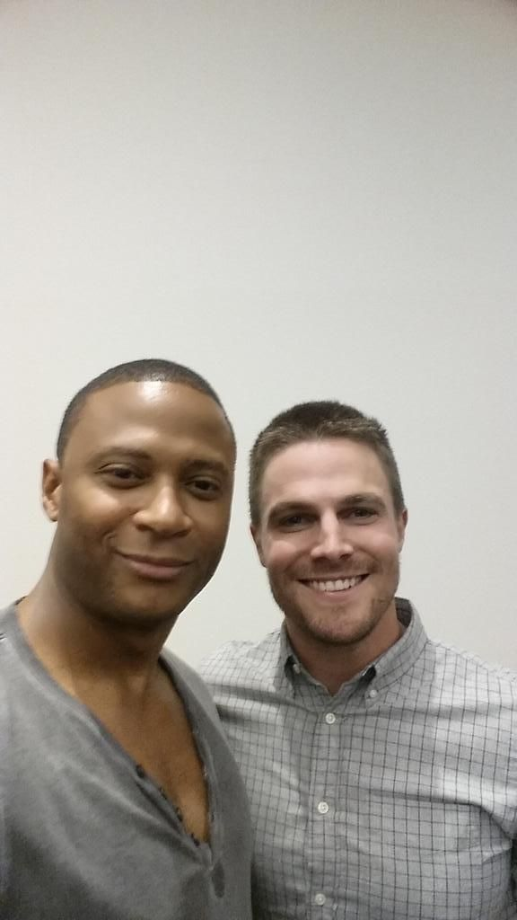 David Ramsey and Stephen Amell