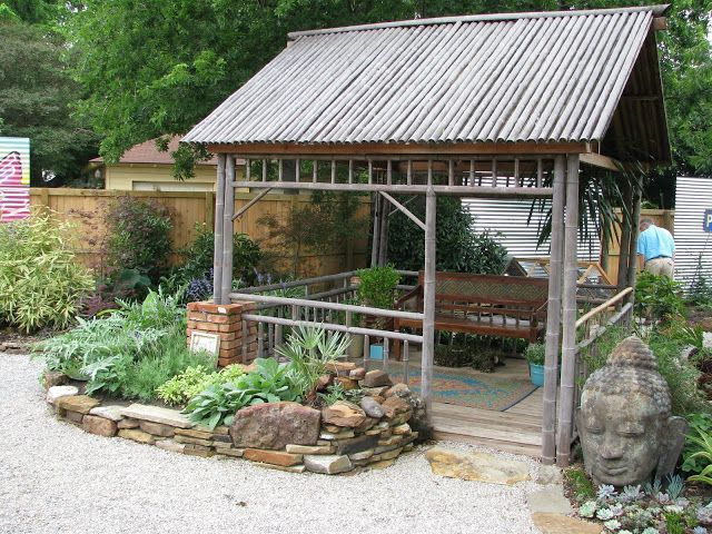 Images Of Corrugate Metal Fences | This Bamboo Roofed Cabana Looks Like A  Nice Place To