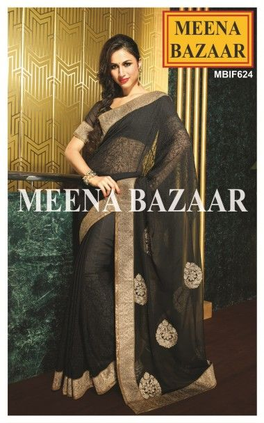 Get Ready to Flatter the world with this timeless aura of black and gold combination! The saree has a patch patti border on both sides highlighting woven gold zari work.