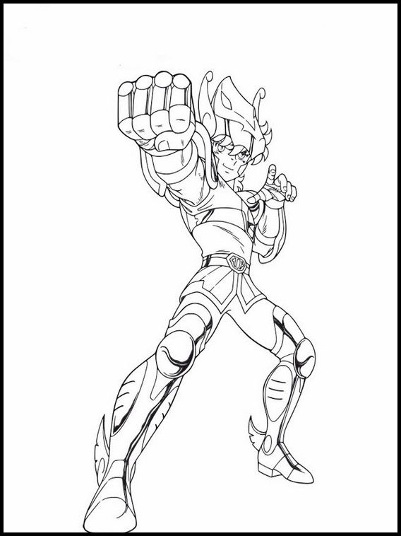 Saint Seiya Knights Of The Zodiac Printable Coloring Book 4 Coloring Pages Printable Coloring Book Online Coloring Pages