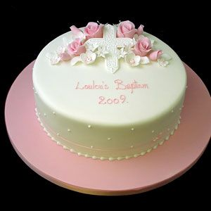A pretty little Baptism Cake. Too bad it's from UK or I'd have them make it ;)