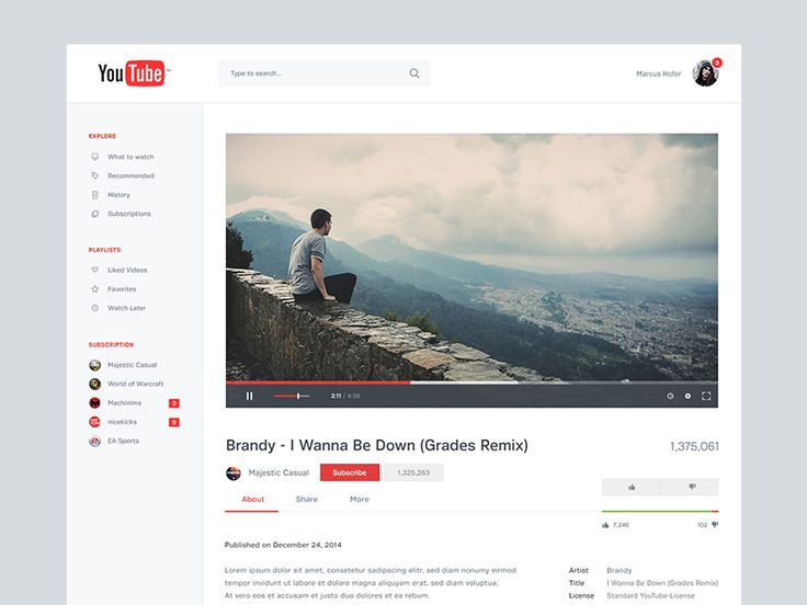 YouTube Redesign II