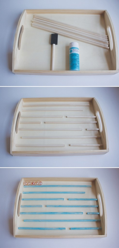 Juego ninos, this is a homemade game, but the same idea wouldn't be bad for a bead project organizer.