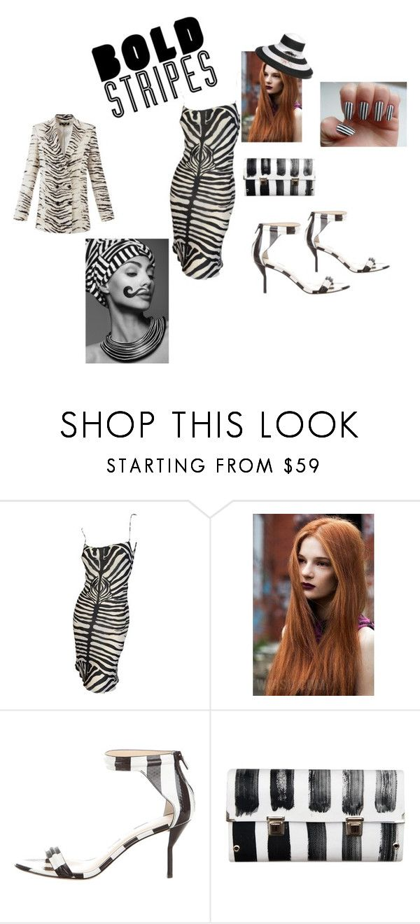 """Stripes here and there"" by tessorolara100 ❤ liked on Polyvore featuring John Galliano, 3.1 Phillip Lim, Spanaki and Gottex"