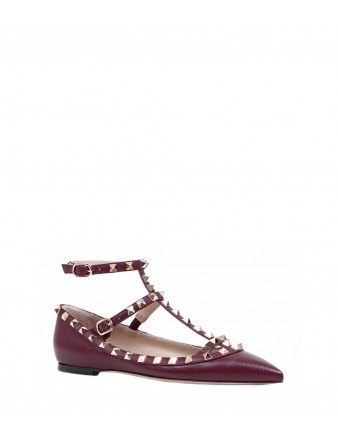 Valentino Rockstud Cage Pointy Toe Flat - How to shop for fall like a Bazaar fashion editor: http://shop.harpersbazaar.com/in-the-magazine/the-insider