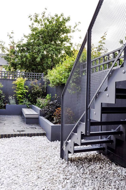 Bespoke external staircase.Designed and made for a private client, Acton.London. 2016. By Design+Weld