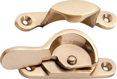 Small Brass Fitch Fastener - Sash Window Lock