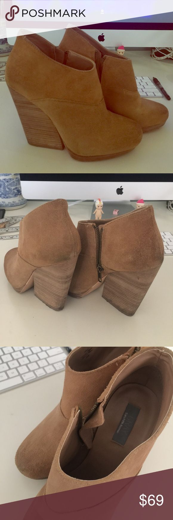 SALE Olana heeled boots by grey said fifth avenue Worn few times still in very new condition nice leather boots gives nice height and looks good on ! Goes well especially gorgeous with nice pair of fitted jeans  fall must have Saks Fifth Avenue Shoes Ankle Boots & Booties