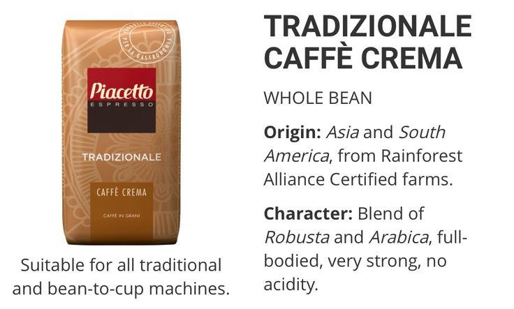 Piacetto Traditionale Caffe Crema  www.solino.gr