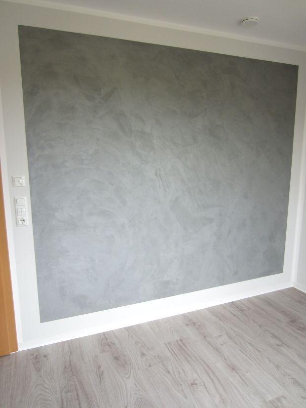 Hingucker Wandgestaltung In Betonoptik Mit Metallic Effekt Individuell Gespachtelt Macht Diese Wandgestaltung Betonoptik Wandgestaltung Wandgestaltung Tapete