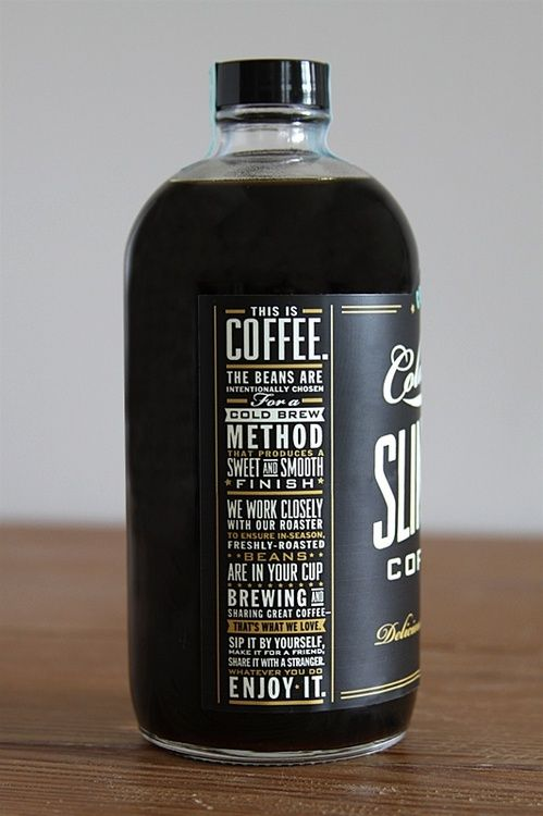 thesetingstaketime: Coff Labels, Bottle Packaging, Packaging Design, Types Design, Ice Coff, Cold Brewing, Coff Packaging, Bottle Design, Labels Design