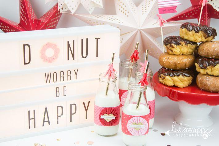 Create Well Create Often: Heidi Swapp - Lightbox Donut Worry Be Happy Party