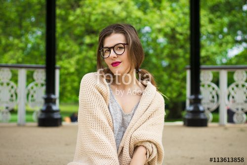 Cute attractive young girl portrait