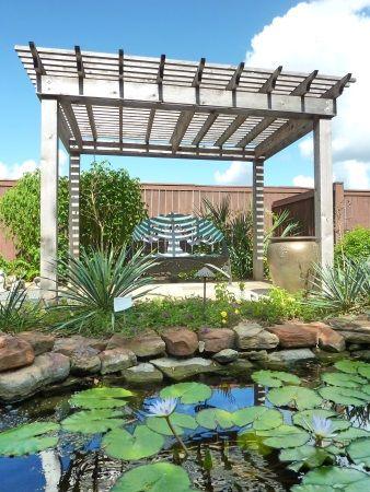 アメリカ / テキサス州ヒューストンのウォーターガーデンにて。Water garden in Houston, Texas.
