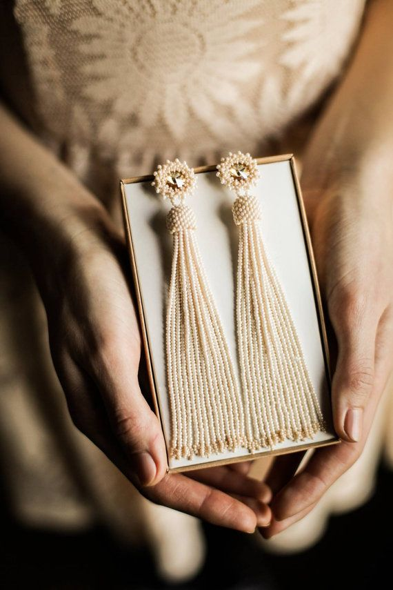 Hey, I found this really awesome Etsy listing at https://www.etsy.com/listing/268262395/long-beaded-tassel-earrings-statement