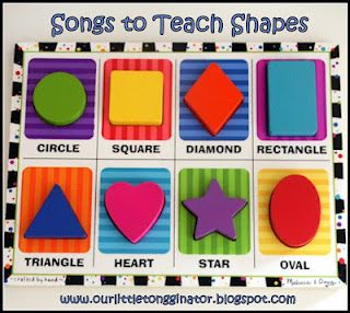 This is a fantastic video with shapes & songs!  Love the songs!  Our Little Tongginator: Teaching Shapes Through Songs