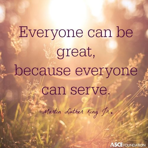 Everyone can serve and pay it forward to those in our communities.