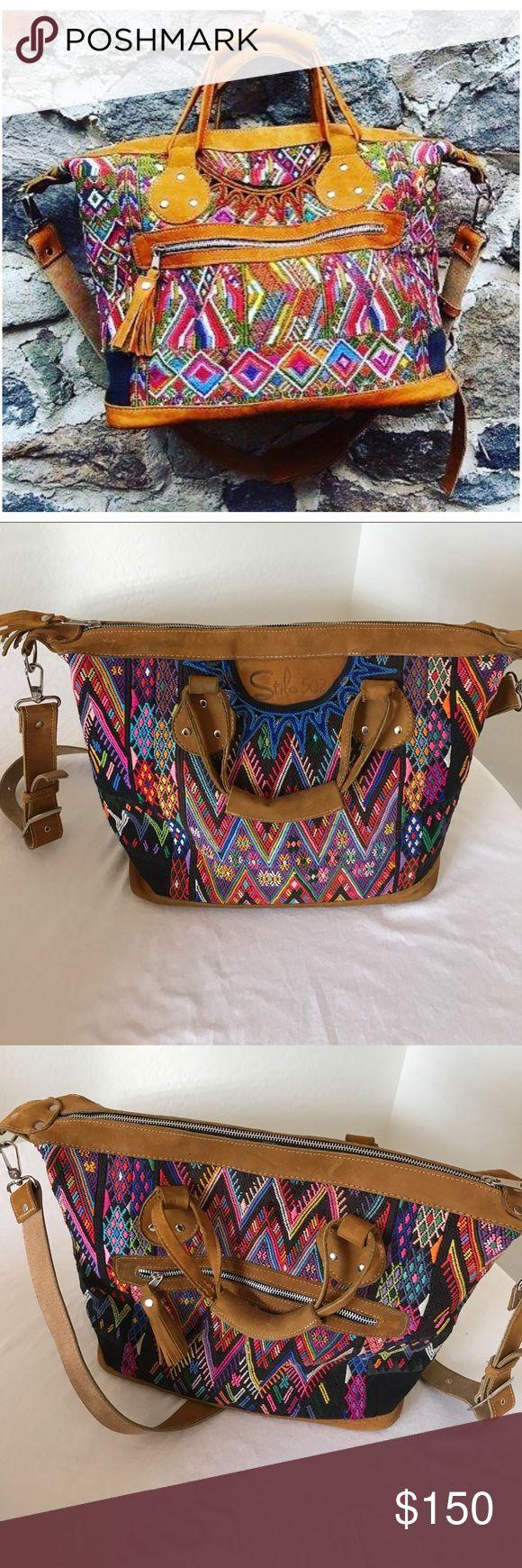 Selling this Stilo 502 handwoven, tribal, cross body tote on Poshmark! My username is: bohomamaaf. #shopmycloset #poshmark #fashion #shopping #style #forsale #stilo 52 #Handbags