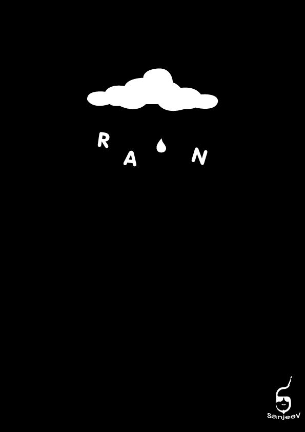 Rain Typography