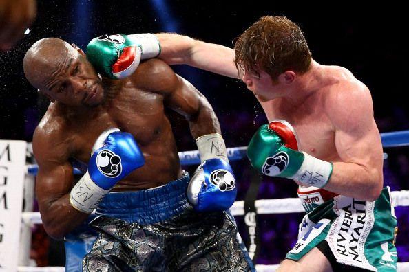 Saul Canelo Alvarez vs. Floyd MayweatherJr. - CBS Los Angeles
