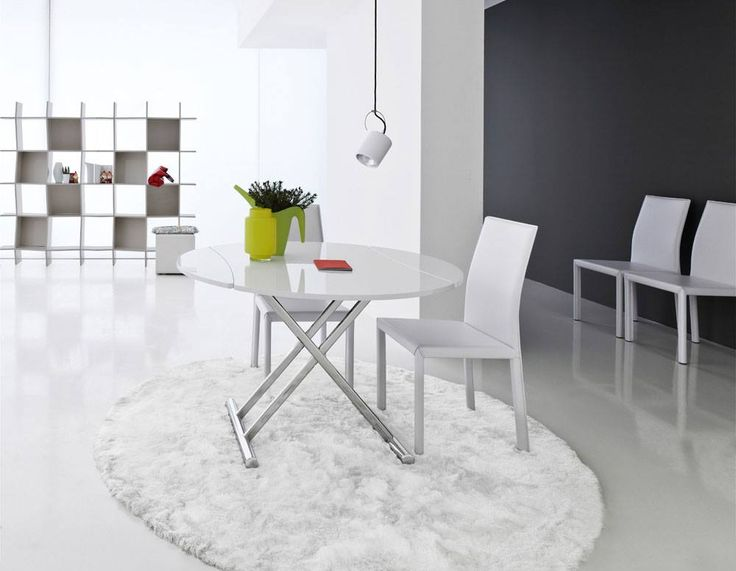 Kerek, vagy téglalap formájú asztalt szeretnél? Tudod mit? Most nem kell választanod, két legyet üthetsz egy csapásra! Hihetetlenül praktikus, átalakítható, és állítható magasságú asztal, többféle színvariációban.
