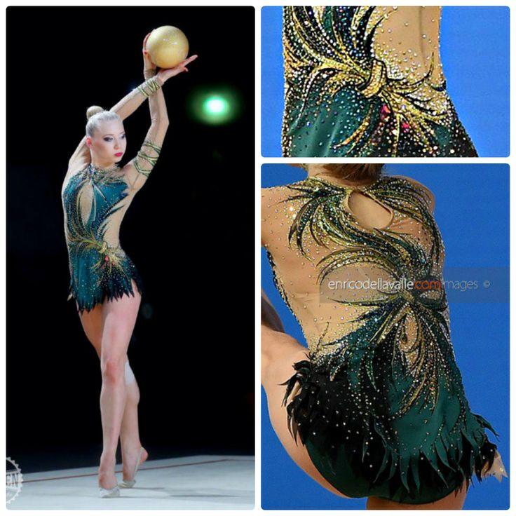 Rhythmic gymnastics leotard: Kseniya Moustafaeva (France), ball 2016 (photo by Tuan Nguyen)