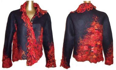Hand-felted jacket from New Zealand artist Raewyn Penrose.