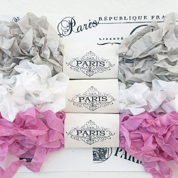 Scrunched Crinkled Seam Binding Shabby Ribbon by EnchantedQuilling