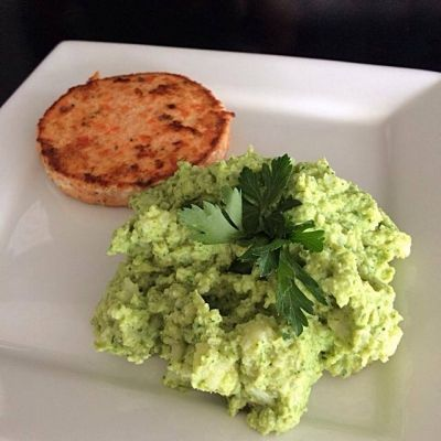 Ripped Recipes - Broccoli-Cauli Mash - Super healthy, low calorie and quick side dish for your fish or any other protein.