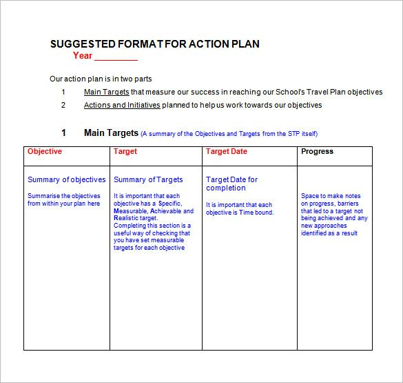 Action Plan Template - 110+ Free Word, Excel, PDF Documents | Free & Premium Templates