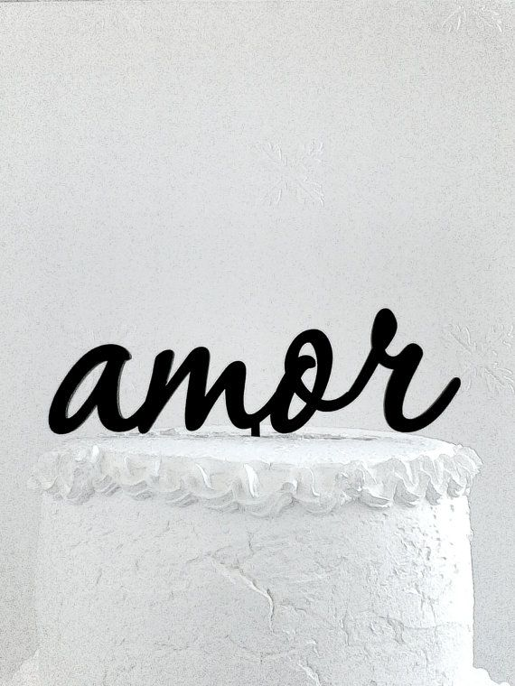 Amore Cake Topper Custom Wedding Cake Topper от CakeTopperDesign