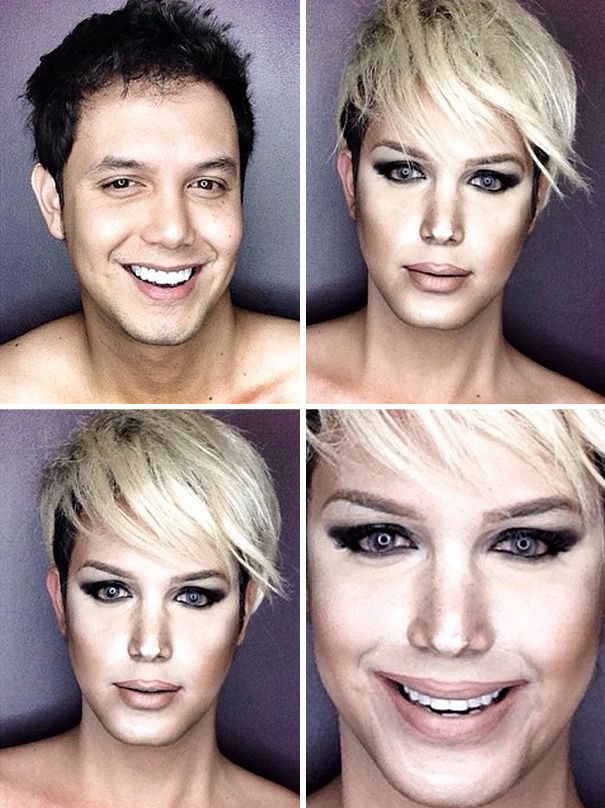 Guy Uses Makeup To Transform Himself Into Female Hollywood Celebrities.