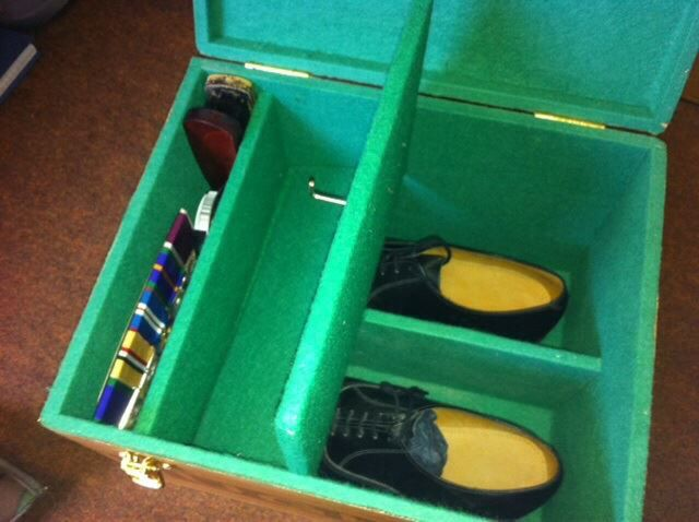 Shoe, hat & medal box from Bukboks medal mounting - Facebook & Cartterick garrison
